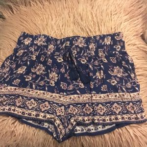Purple floral forever 21 shorts